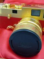 Leica limited edition 24-carat gold-plated camera image title