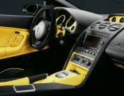 Luxury sports car interiors