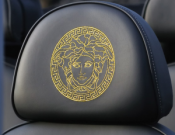 Embroidery in headrest