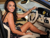 Tamara Ecclestone in the car
