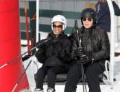 Zoe Saldana and Keith Britton in Aspen