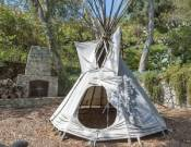 Tee pee in the property