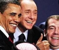 Silvio Berlusconi and Barack Obama