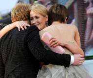 Rupert Grint and J.K. Rowling