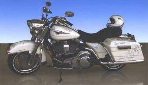 celebrity harley davidson motorcycle foauction