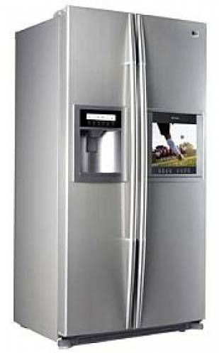 LG Announces Side by Side TV Refrigerator