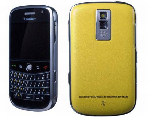 blackberry bold yellow