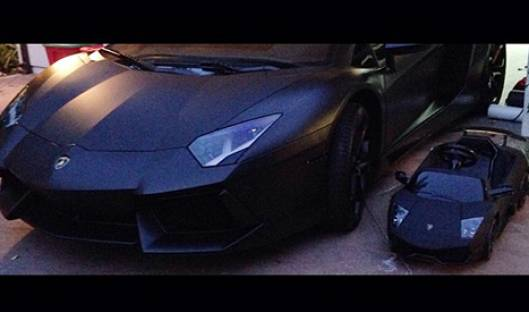 Kanye West and daughter Nori have matching Lamborghinis