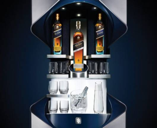 Johnnie Walker Blue Label Private Bar with  Porsche Design Studio