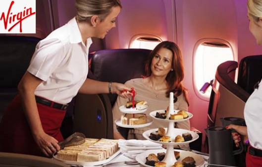 Virgin Atlantic upgraded upper class meal service for the business traveler
