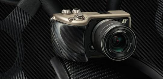 Hasselblad Lunar carbon fibre and titanium camera