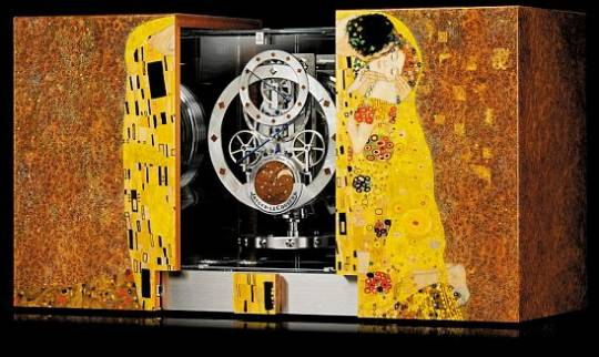 Jaeger Le Coultre Atmos Marquetry The Kiss clock