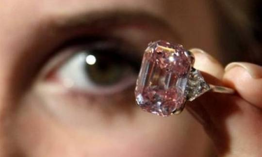 Rare pink diamond at Sotheby's