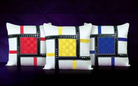 Swarovski crystal Studded Jewellery cushions for the world's most beautiful homes