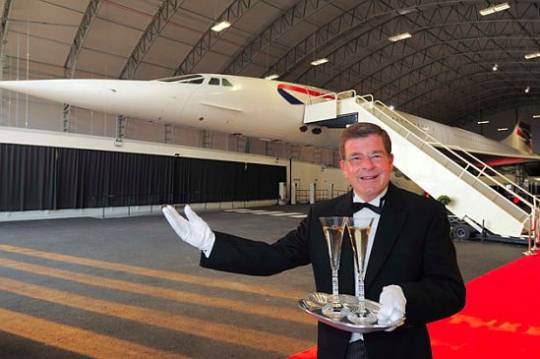 British Airways dinner auction for Concorde