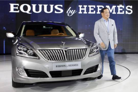 2013 Hyundai Equus for Hermes edition at the Seoul Motor Show