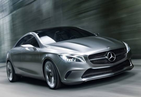 Mercedes Benz Concept Style coupe in motion