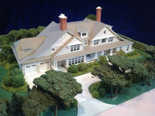 Gary Lawrance hand-builds Architectural House Models for Architectural Firms to help clients envision their plans