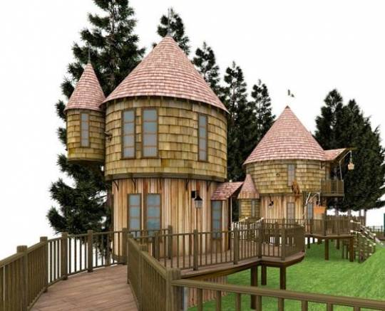 Adventurous treehouse for children