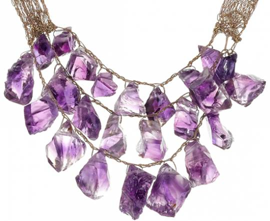 Silk Lace Necklace Designed by Artist & Fine-Jeweler SHIRLEY EPHRAIM