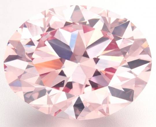 The largest round pink diamond