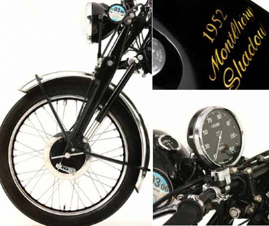 1952 Vincent Black Shadow bike was known for being high on both performance and looks