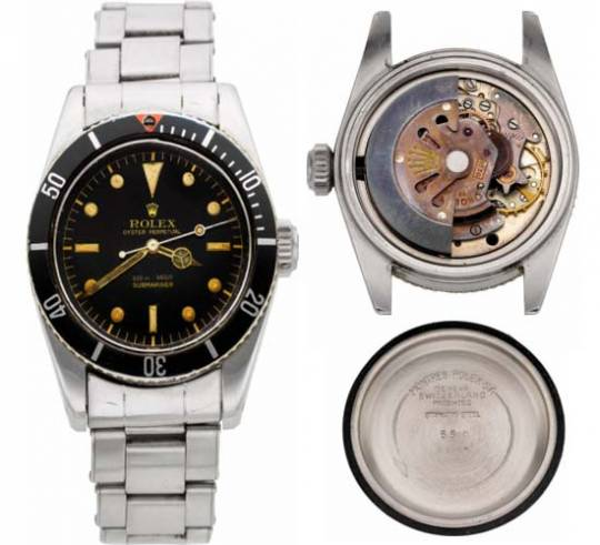 Rolex Ref. 5510 Oyster Perpetual Submariner 'James Bond' Big Crown Wristwatch circa 1958