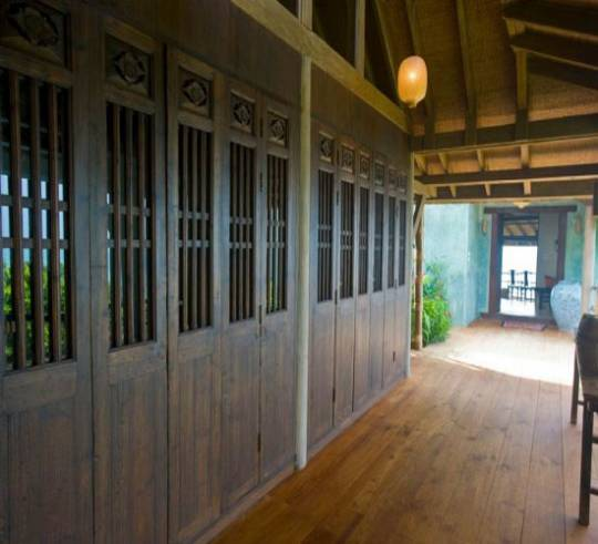 Chinese doors and windows add to appeal of the property, making it synonymous with all things oriental