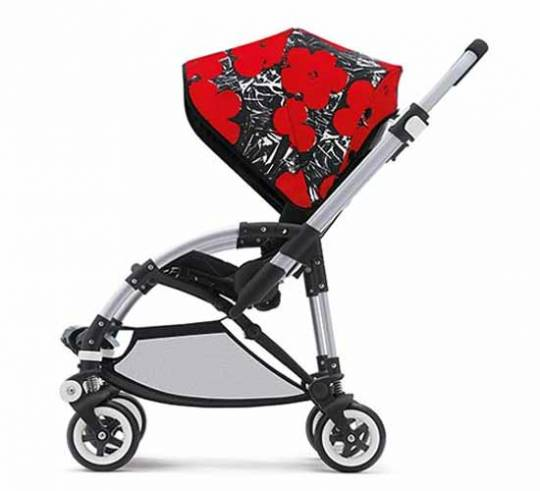 Bugaboo stroller inspired by works such as the inocnic Cars and Flowers paintings