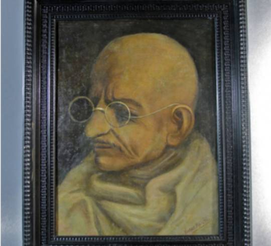 Mahatma Gandhi's portrait will be one of many going up for auction