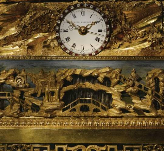 George III Paste-Set ormoulu musical automation clock circa 1780 signed by Peter Torckler