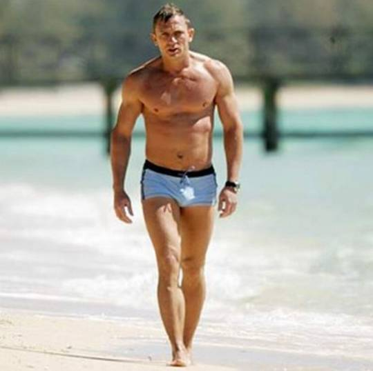 James Bond unwashed trunks
