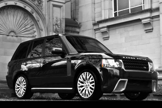 photo of Robbie Williams Range Rover - car