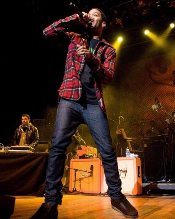 Kid Cudi is known to be style conscious. He has been spotted at many of his concerts wearing the A.P.C. New Cure jeans