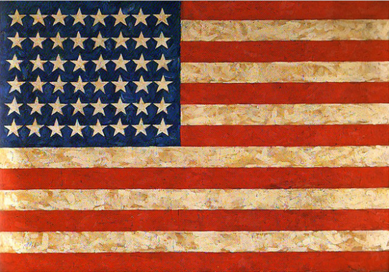 Jasper Johns 'Flag' Painting