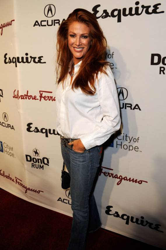 Angie Everhart in Casual look