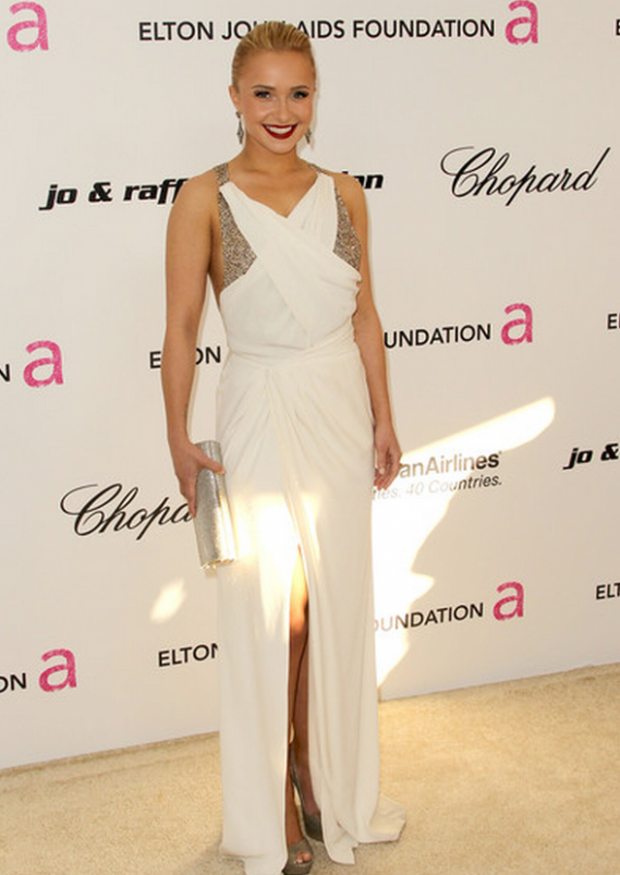 Hayden Panettiere attends the 19th Annual Elton John AIDS Foundation's Oscar viewing party
