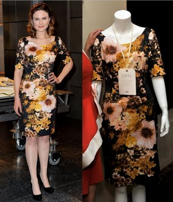 Tuleh Autum Gold Floral Dress