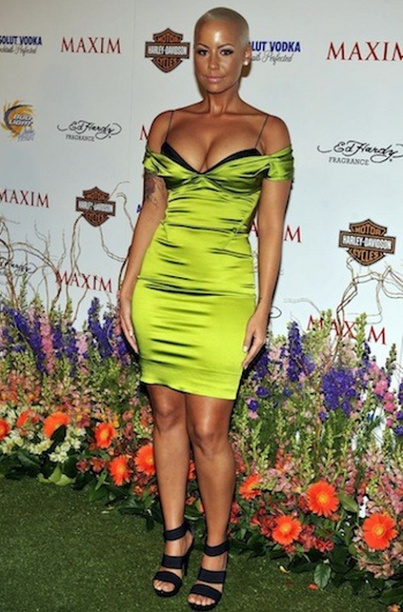 The artist was seen at a party organized by Maxim wearing a beautiful designer dress costing $ 1,795.