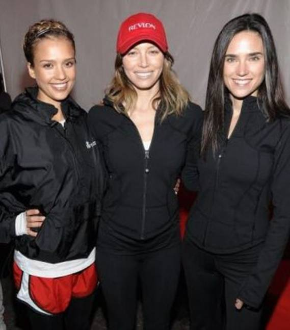 Jessica Alba, Jessica Biel and Jennifer Connelly  at Entertainment Industry Foundation event