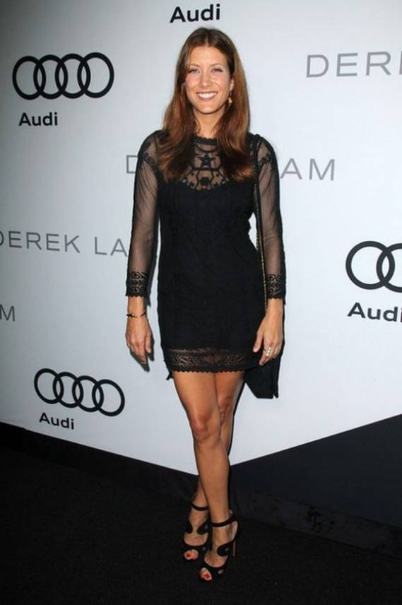 Kate Walsh wore the black embrodeered cotto-mesh dress from Praisian Designer Isabel Marant wghile attending the Audi 'kick-off' Emmy Week'12 party in Los Angeles.