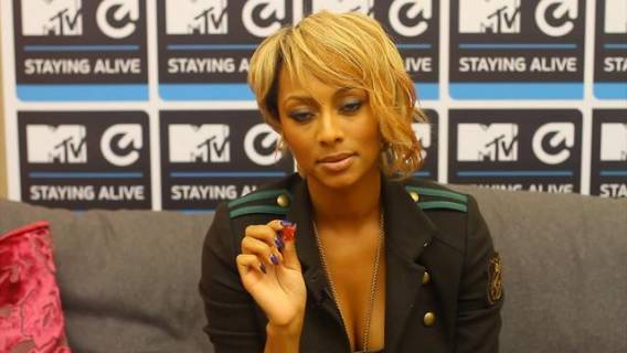 Keri Hilson supports MTV Staying alive