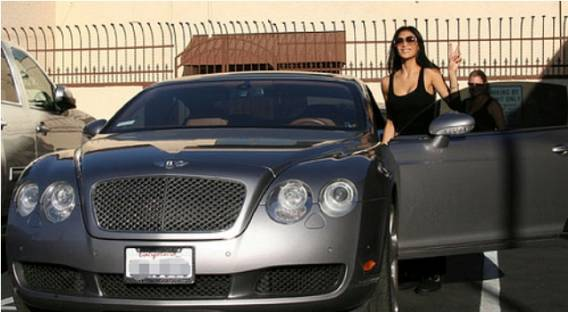 Nicole drives Bentley Continental GT