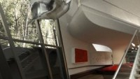 Staircase u=inside Moscow spaceship home