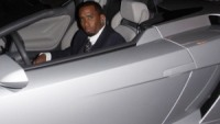Sean Combs in his Lamborghini