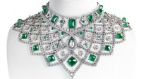 Fabergé's Romanov necklace is a diamond studded collar with ethically mined emeralds