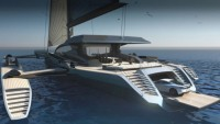 UltraLuxum CXL is the biggest cruising trimaran in the world that can park a McLaren!