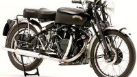 A 1952 Vincent Black Shadow motorcycle sold for $134,800