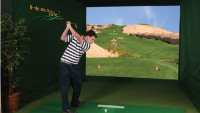 Holiday Golf's System 4 Indoor Golf Simulator for realistic golfing in your den