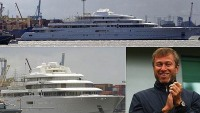 Roman Abramavich's $350M new toy launched on maiden voyage